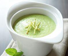 mint edamame soup