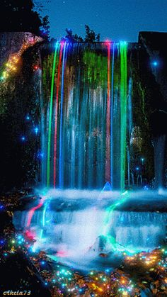 Lights, Color, Action - Waterfall