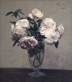 Vase des Roses, 1875, by Henri Fantin-Latour (1836-1904). Collection of Julian and Josie Robertson, New York.