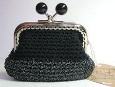 moneder ganxet / monedero ganchillo / crochet purse tanca metàlica / cierre metálico