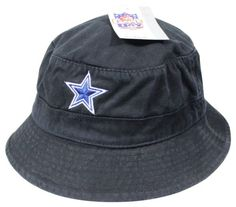 NEW DALLAS COWBOYS Floppy Bucket HAT Large   XL Black Official NFL Football  NWT! 7a74f02db4a