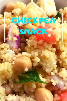 Ingredients cup chicken broth cup uncooked couscous 1 cup canned chickpeas, rinsed and drained 1 plum tomato, seeded and cho. Chickpea Snacks, Chickpea Recipes, Chickpea Salad, Healthy Recipes, Broccoli Bites, Plum Tomatoes, Canned Chickpeas, Couscous, Salads