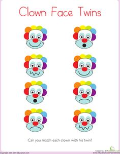 1000+ images about Pre-K Circus Theme Crafts/Worksheets on ...