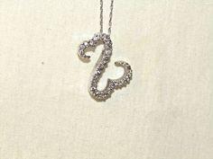 Lovely ~ 0.5 TCW Diamonds Open Heart 10k White Gold Necklace by Jane Seymour  #JaneSeymour #pendantslidernecklace