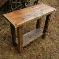 Sofa table from pallet wood