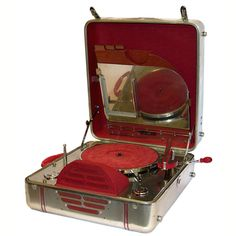 Machine Age RCA Special 78 Portable Record Player by John Vassos, United States, 1939. The RCA Special is an incredible icon of modern American Design. It debuted at the 1939 New York World's Fair in the RCA Building.