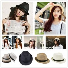 Cheap hat cars, Buy Quality hats software directly from China hat holder Suppliers: Features : Condition: new Material: PP braid Size: Brim appr Mens Straw Hats, Hot Beach, Summer Beach, Cheap Hats, Summer Hats For Women, Trilby Hat, Hats Online, Fashion Couple, Couple