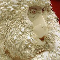 paper sculpture by Calvin Nicholls/ escultura de papel por Calvin Nicholls 3d Paper Art, Paper Artwork, Paper Crafts, Paper Artist, Paper Paper, Kirigami, Lart Du Papier, Architecture Origami, Art D'ours