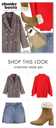 """""""Red sweater"""" by fshionme ❤ liked on Polyvore featuring GRLFRND"""
