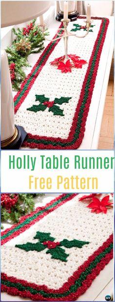 40 ideas for crochet christmas table runner free Christmas Crochet Patterns, Holiday Crochet, Christmas Knitting, Crochet Fox, Crochet Gifts, Free Crochet, Unique Crochet, Crochet Table Topper, Crochet Table Runner Pattern