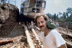 Herzog on the set of Fitzcarraldo