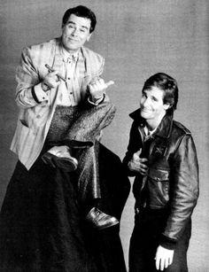 Quantum Leap- Dean Stockwell and Scott Bakula 1990s Tv Shows, Sci Fi Shows, Donald P Bellisario, Dean Stockwell, Nbc Series, My Babysitter, Actor Studio, Quantum Leap, Three's Company