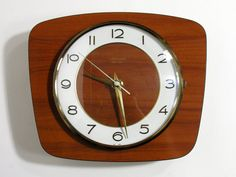 Junghans Wall Clock  Mid Century Formica Wall by LArriereBoutique