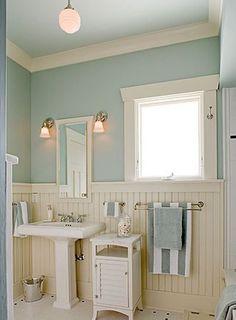 ♛ bathroom wall treatment #Home #Decor #Design  ༺༺  ❤ ℭƘ ༻༻   IrvineHomeBlog.com                                                                                                                                                      More