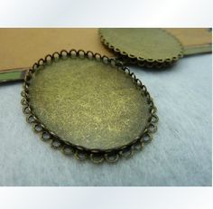 30X40mm 10X Bronze Oval Cameo Setting Y425