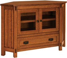 Amish Outlet Store 49 Rio Mission Corner Tv Unit In Oak 32