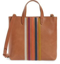 STYLECASTER | Nordstrom Anniversary Sale 2020 | Nordstrom Anniversary Sale picks | Nordstrom Anniversary Sale | Nordstrom outfits | Madewell The Transport Stripe Embroidered Zip Top Crossbody Tote Crossbody Tote, Tote Bag, Nordstrom Sale, Nordstrom Anniversary Sale, Girls Sneakers, Fashion Essentials, Vegetable Tanned Leather, Women's Summer Fashion, Bag Sale