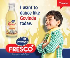Have you tried the Gopaljee Fresco - Thandai flavor yet?  #Kids #Health #Nutrition #Milk #Diet