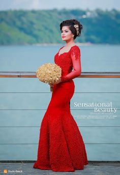 I know it's a dress but I would love a saree blouse like this. Going Away Dress, Srilankan Wedding, Wedding Album, Red Wedding, Wedding Bride, Sri Lankan Bride, Saree Dress, Saree Blouse, Wedding Frocks