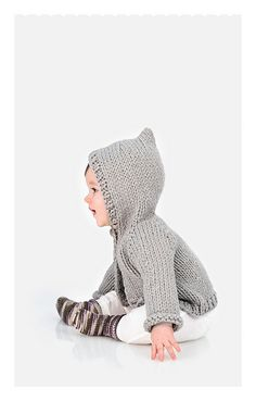 Ravelry: Honeybear Hoodie pattern by Sarah Smuland