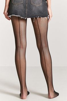 FOREVER 21 Micro-Fishnet Tights - A pair of sheer micro-fishnet tights with f6310f87d9c