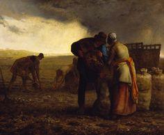 ジャン=フランソワ・ミレー フランス 1814年 - 1875 The Potato Harvest 1855