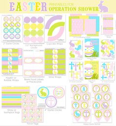 The full meal deal!  connects to support for military families.    Amanda's Parties TO GO: FREE Easter Printables Set for Operation Shower