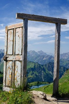 The Portal at Oberstdorf, Germany Portal, Beautiful World, Beautiful Places, Simply Beautiful, Photo Voyage, Voyager Loin, Old Wooden Doors, Doorway, Door Design
