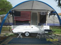 pop up camper awning screen room  - like flag also!