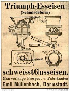 Original-Werbung/Anzeige 1905 - TRIUMPH - ESSEISEN / EMIL MÜLLENBACH - DARMSTADT - ca. 45 x 50  mm