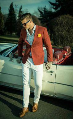 mens orange blazer, men summer blazer, summer fashions, color, mens fashion orange