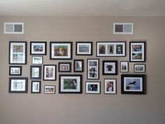 Been in our new house 2 years and finally got our photo wall back up!!