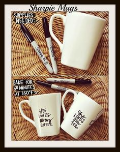 Personalize coffee mugs