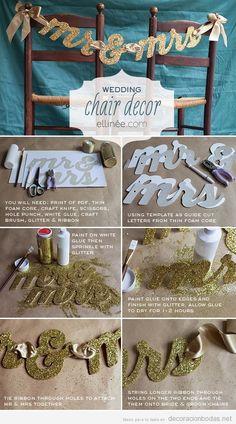 Tutorial para decorar con letras la silla de los novios en las bodas