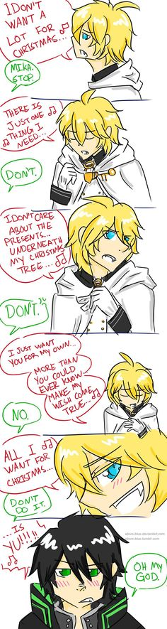 Or: the reason why Mika really loves Christmas (just to sing this song to piss Yuu off)