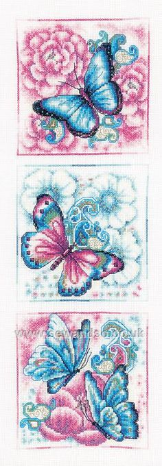Blue Butterflies http://www.sewandso.co.uk/Products/Blue-Butterflies-Cross-Stitch-Kit__VER-PN-0147044.aspx