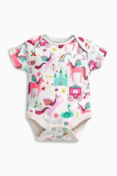 Buy Multi Unicorn Short Sleeve Bodysuits Three Pack (0mths-2yrs) online today at Next: United States of America