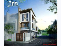 View 1: Mẫu thiết kế nhà phố 3 tầng 90m2 ở Thanh Hoá