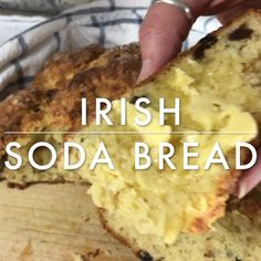 Quick and easy traditional Irish soda bread, bakes up dense with a crusty exterior. Serve warm with butter for St. More from my site French Brioche Cinnamon Banana Bread Muffins Raisin Recipes, Bread Recipes, Cooking Recipes, Pizza Recipes, Traditional Irish Soda Bread, Traditional Irish Recipes, Traditional Cakes, Irish Soda Bread Recipe, St Patricks Day Food