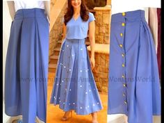 Ideas Dress Pattern Long Sleeve Inspiration For 2019 Box Pleat Skirt, Pleated Skirt, Dress Skirt, Skirt Fashion, Fashion Dresses, Sewing Baby Clothes, Sleeves Designs For Dresses, Skirt Patterns Sewing, Pattern Skirt