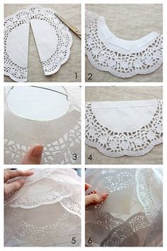 PAPER DOILY LANTERNS  What you'll need:  - Paper lantern  - Paper doilies  - Scissors  - Double-sided tape  - String to hang