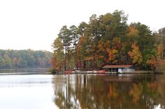 The boathouse at William B Umstead State Park, #Raleigh, North Carolina