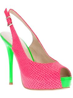 Pink And Green Heels