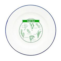 TMOD Adventure Enamel Plate Useful Herbs   Iko Iko, the most exciting shop for gifts, homewares, accessories and more.