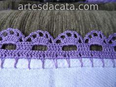 (Vídeo) aprenda a fazer crochê passo a passo agora mesmo, clique na foto. -------------------------------------------------------------------   #crochê #bordado #tricô #tricotar #crochetar #croche, crochês, crochê para iniciante, crochê passo a passo, crochê de grampo, crochê gráfico, crochê moderno, crochê em barbante,  crochê diferente, crochê crochê, crochê bordado Picot Crochet, Crochet Trim, Crochet Lace, Crochet Stitches, Free Crochet, Crochet Boarders, Crochet Edging Patterns, Crochet Blanket Edging, Crochet Crafts