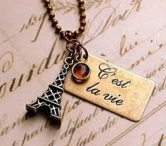 can someone tell me wat C'est La Vie is? Eiffel towers! #my favourite <3