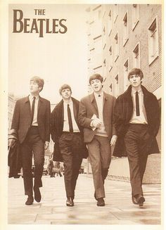 Postcrossing US-2413657 - Sepia-toned card with a picture of The Beatles early in their career.  Sent to a Postcrosser in Greece.