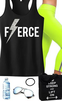 Workout Outfit Inspiration. FIERCE Glitter Lightning tank top by NoBull Woman. Click here to buy http://nobullwoman-apparel.com/collections/fitness-tanks-workout-shirts/products/fierce-glitter-lightning-tank-top