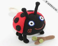 Gaston Ladybird Fetch The Stick Soft Toy From Ben by TatieSoftToys