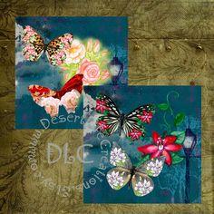 Vintaq Twilight Art  Digital Collage Sheets by DesertLifeCreations, $2.75